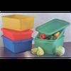 "Vollrath 1535-C05 Color-Mate Food Storage Box Combo Includes 5"" Drain"