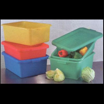 "Vollrath 1551-C04 Color-Mate Food Storage Box Combo Includes 5"" Drain"