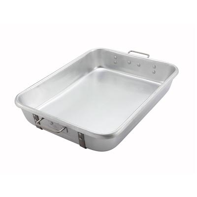 "Winco ALRP-1824 Double Roast Pan 18"" X 24"" X 4-1/2"" Deep"