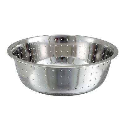 "Winco CCOD-15L Chinese Colander 15"" with 5 Millimeter Holes"