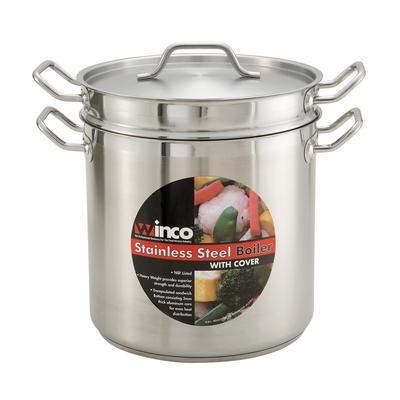 Winco SSDB-12 Double Boiler with Cover