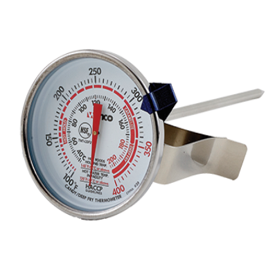 Winco TMT-CDF2 Candy/Deep Fry Thermometer Temperature Range 100 Degrees to 400 Degrees F