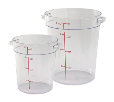 Winco PCRC-12 12Qt Polycarbonate Round Food Storage Container
