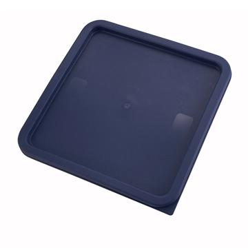 Winco PECC-128 Blue Cover For Square Food Storage Containers