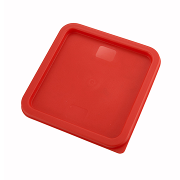 Winco PECC-68 Red Cover For Square Food Storage Containers