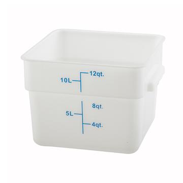 Winco PESC-12 White 12 qt Food Storage Container