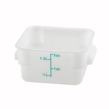 Winco PESC-2 White 2 qt Food Storage Container