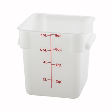 Winco PESC-8 White 8 qt Food Storage Container