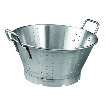 Winco SLO-16 16 Qt Premium Colander With Base