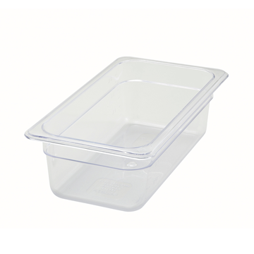 "Winco SP7304 4"" Polyware 1/3 Size Food Pan"