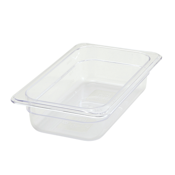 "Winco SP7402 2-1/2"" Polyware 1/4 Size Food Pan"
