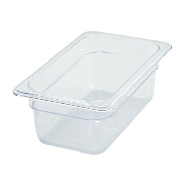 "Winco SP7404 4"" Polyware 1/4 Size Food Pan"