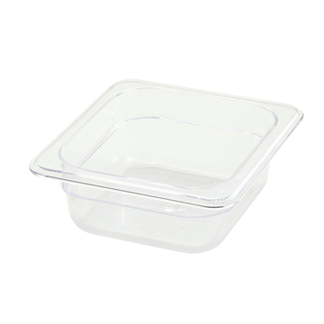 "Winco SP7602 2-1/2"" Polyware 1/6 Size Food Pan"