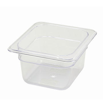 "Winco SP7604 4"" Polyware 1/6 Size Food Pan"