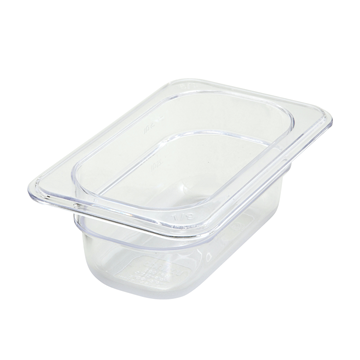 "Winco SP7902 2-1/2"" Polyware 1/6 Size Food Pan"