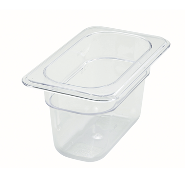 "Winco SP7904 4"" Polyware 1/6 Size Food Pan"