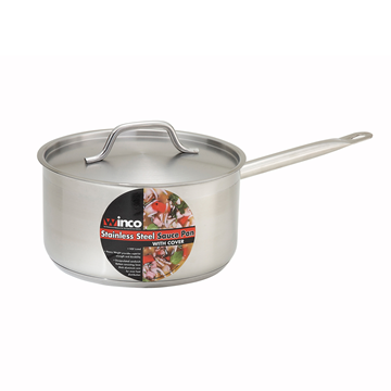 Winco 3-1/2 qt. Sauce Pan and Lid