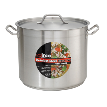 Winco 32 qt. Stock Pot and Lid