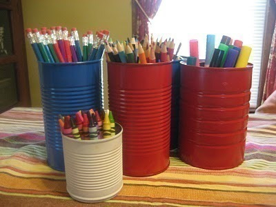 Recycle Cans Into Art Supply Storage 183 How To Make A Pot