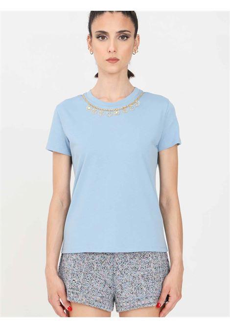 T-shirt con applicazioni ELISABETTA FRANCHI | 7 | MA20316E2Q80