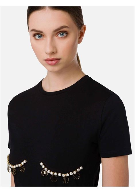 T-shirt con applicazioni ELISABETTA FRANCHI | 7 | MA27N16E2110