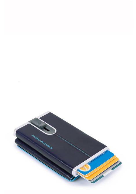 PIQUADRO | Compact wallet per banconote e carte di credito | PP4891B2RBLU2