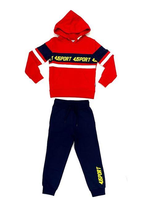 Tuta sportswears 4US - CESARE PACIOTTI | Tute sportswears | COMP2301JROSSO