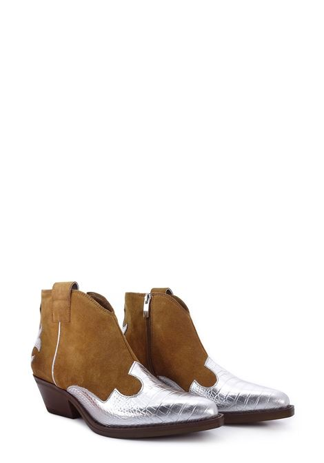 Texan ankle boots JANET & JANET   Ankle Boots   45150CUOIO/ARGENTO