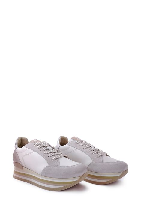 JANET SPORT | Sneakers | 45775BIANCO/ARGENTO