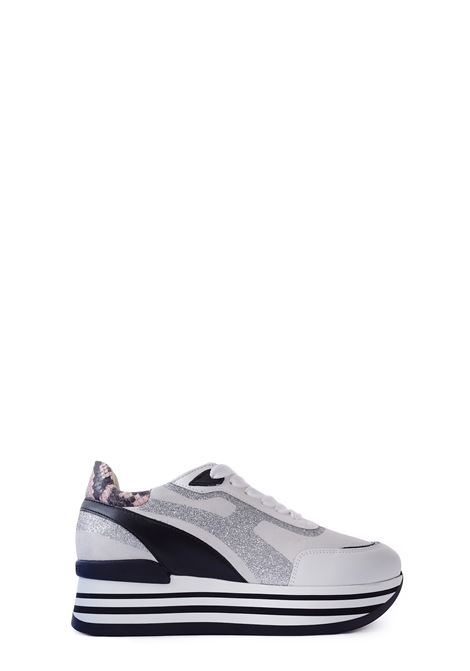 JANET SPORT | Sneakers | 45776BIANCO/CIPRIA/ARGENTO