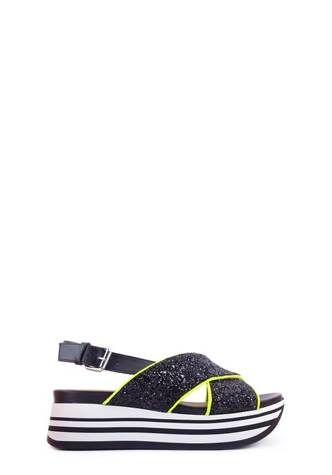 JANET SPORT | Wedges | 45805NERO/GIALLO