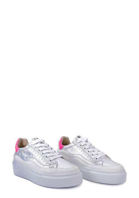 JANET SPORT | Sneakers | 45828ARGENTO/BIANCO/FUCSIA
