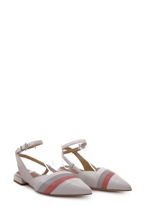 Flat Shoes LORENZO MARI | Flat Shoes | LOR 1565AVORIO/ROSA ANTICO/TAUPE