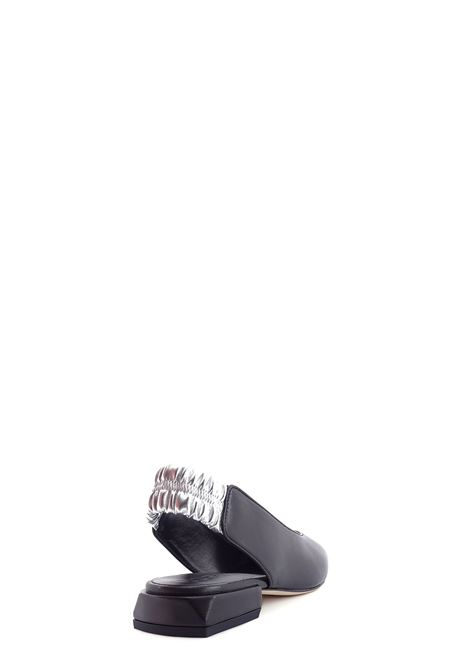 Flat shoes  LORENZO MARI | Flat Shoes | LOR 1568NERO/ARGENTO