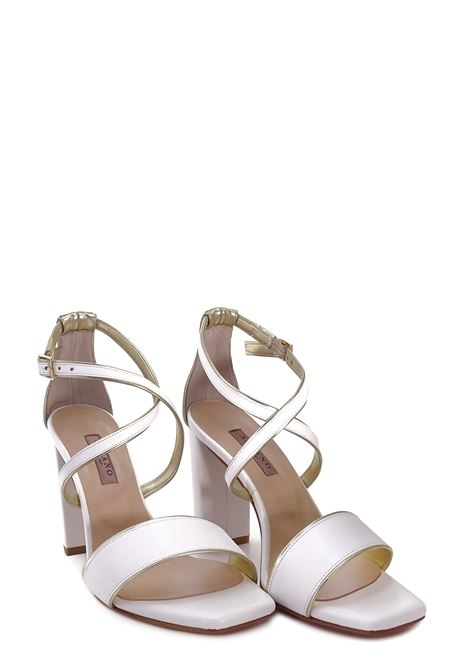 ALBANO | High Heel Sandals | 4003BIANCO/RAME
