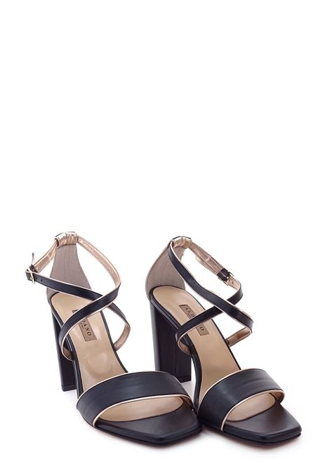 ALBANO | High Heel Sandals | 4003NERO/RAME