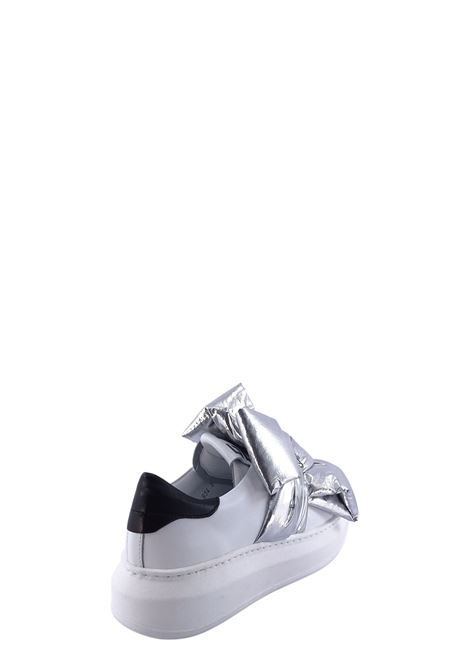 GIO+ | Sneakers | G934BBIANCO/FIOCCO ARGENTO