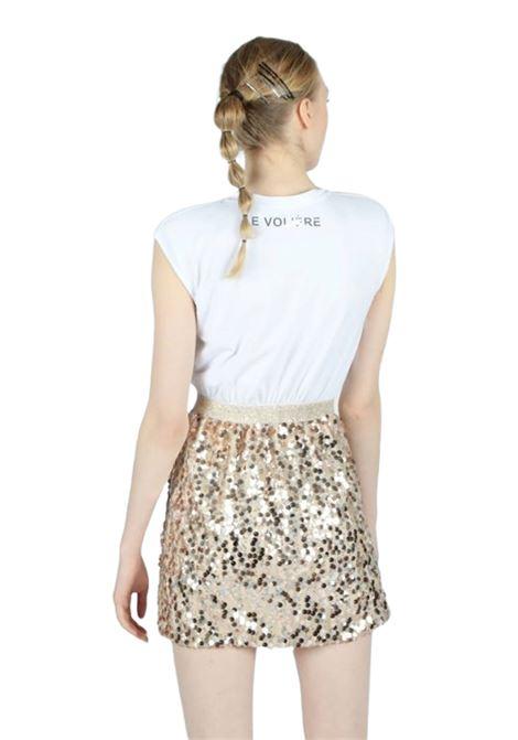 LE VOLIERE | Dress | D068GSBIANCO/ORO