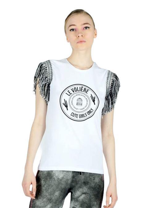 LE VOLIERE | T-shirt | T120JWBIANCO