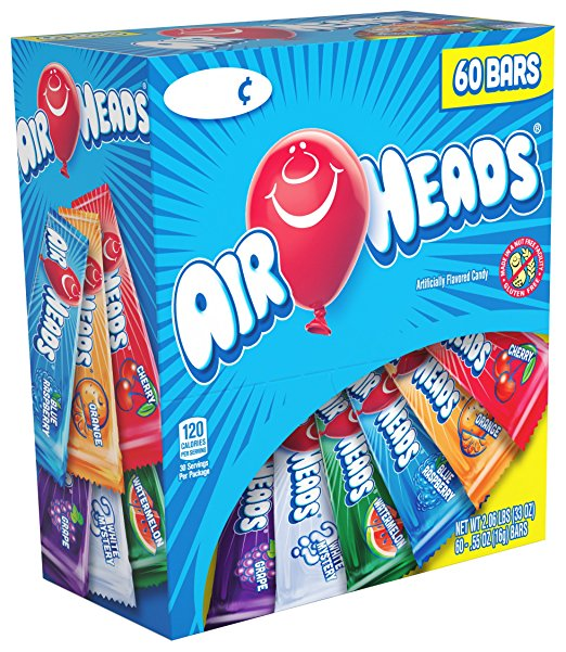 Airheads Bars - Chewy Fruit Candy, 60 Count