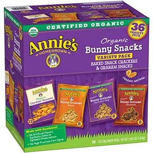 Annie's Organic Variety Bunny Snacks Pack (36 Ct)