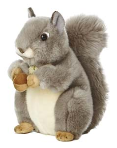 "Aurora World Grey Squirrel 8"" Plush"