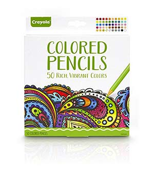 Crayola Colored Pencils, 50 Count Set