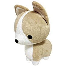 "Bellzi Tan Corgi Plush - 12"" Tall"