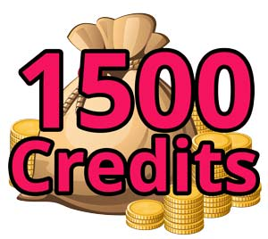 Credit Pack: 1500 Credits