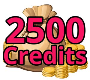 Credit Pack: 2500 Credits