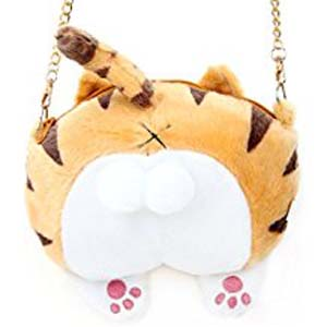 Cute Cat Butt Shoulder Bag/Purse (Orange)