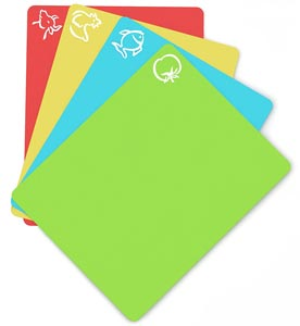 Extra Thick Plastic Cutting Board Mats (Set of 4)