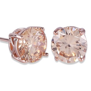 Rose Gold Tone Yellow Crystal Royal Journey Jewelry Eternity Stud Earring