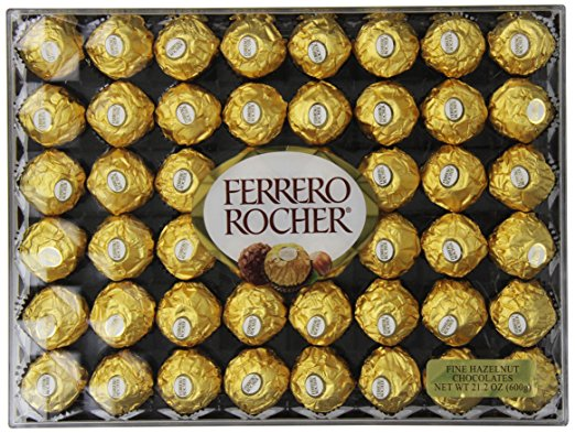 Ferrero Rocher Hazelnut Chocolates - 48 Count